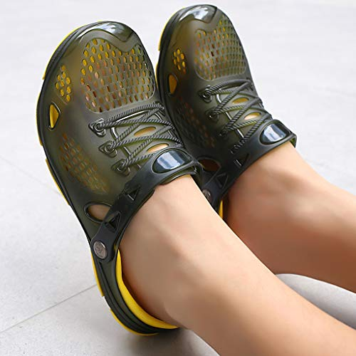 YEZIJIN Hot Sale! Summer Casual Men's Flats Breathable Antiskid Sandals Slippers Beach Hole Shoes Slipper Heels Platform Flats Shoes for Women Ladies Girl Indoor Outdoor Clearance 2019 Best by YEZIJIN_Women's Sandals (Image #4)