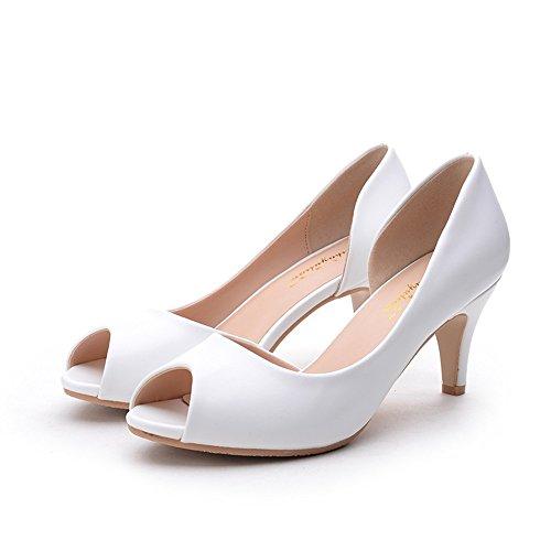 Pie White Hxvu56546 Mujer Verano Nuevo El Dulce Estudiantes De Conjunto Cómodo Sandalias Alto Tacón Zapatos 86q4WE87