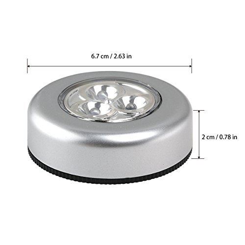 Tinksky Set Of 6 Click Push LED Lamp Night Light Lamps