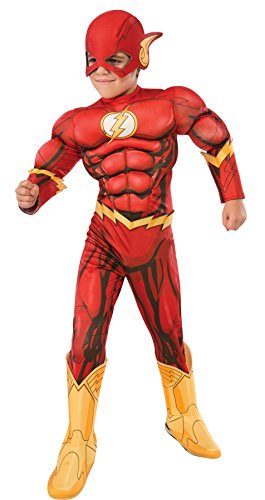New Movie Costume Flash (UHC The Flash Deluxe Outfit Movie Theme Fancy Dress Child Superhero Costume, Child M)