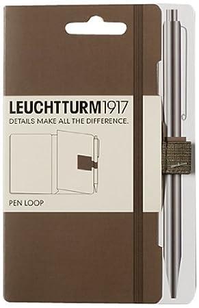 taupe Leuchtturm1917 342940 Stiftschlaufe 15 mm elastische Schlaufe, selbstklebend, 40 x 40 mm
