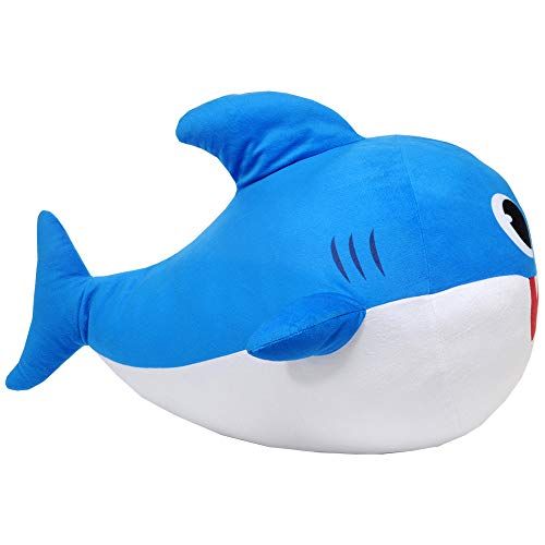Franco Kids Bedding Soft Plush Cuddle Pillow Buddy, One Size, Baby Shark Blue Daddy