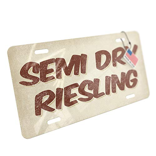 Dry Semi Riesling Wine - NEONBLOND Semi Dry Riesling Wine, Vintage Style Aluminum License Plate