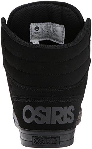 Osiris Mens Scarpa Da Skate Clone Nero / Ops
