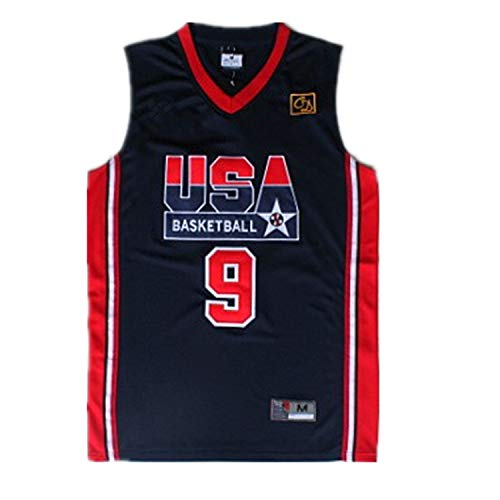 No 9_Michael_Jordan_USA_Olypics_Dream_One_Jersey Red/Black -Mens (M)