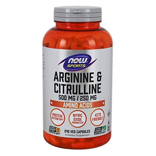 Now Sports Nutrition, Arginine & Citrulline, Amino Acids, 240 Veg Capsules