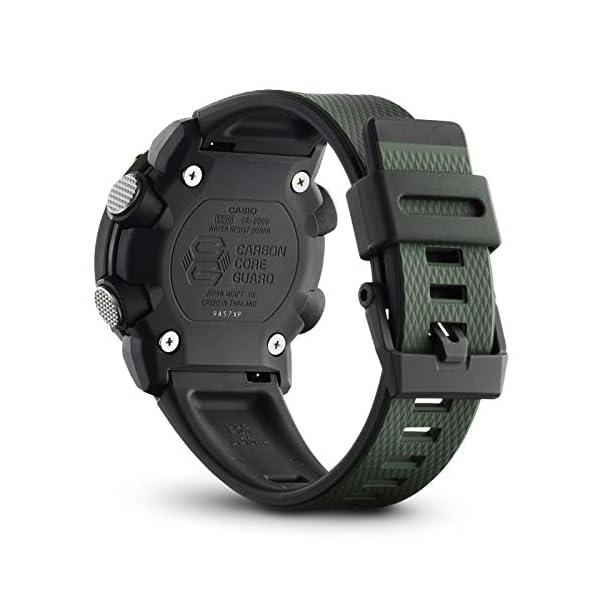 Casio Reloj Analógico-Digital para Hombre de Cuarzo con Correa en Resina GA-2000-3AER 4