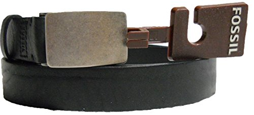 Fossil Belt, Casual Harrison Plaque Belt (40, Black) (Fossil Casual Belt)