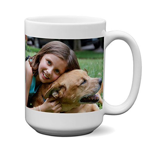 Logo Photo Mug - Personalized Coffee Mug - Add pictures, logo, or text to our Custom Mugs 15oz Ceramic