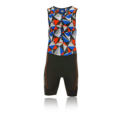 ZOOT Men's Performance Tri Race Suit, Vivid Blue Camouflage, - Tri With Suit Sleeves
