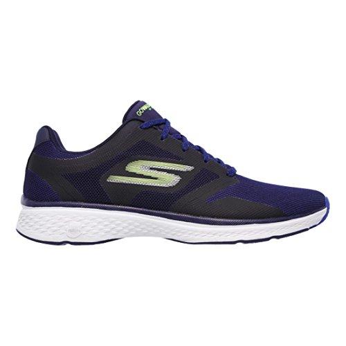 Scarpe sneakers ginniche Skechers modello GoWalk Sport da uomo, blu elettrico, in tessuto mesh, ammortizzamento in Memory Foam COD. 54145 NVY TAGLIA 40