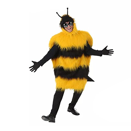 Kacm Halloween Adults Little Bee Jumpsuit Costumes