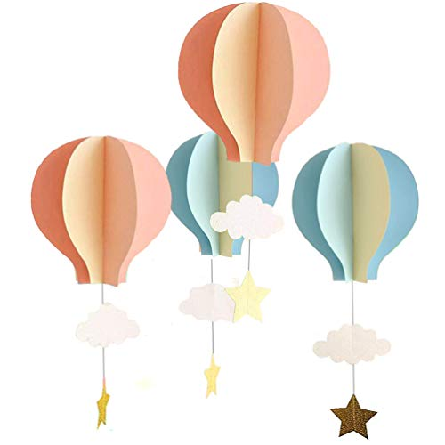 8 Pcs Large Size Hot Air Balloon 3D Paper Garland Hanging Decorations for Wedding Baby Shower Birthday Party Decorations by -