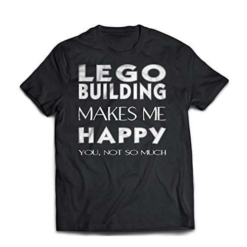 District Shirts Lego Building Unisex T-Shirt. Funny Lego Building Tee. Cool Shirt For Lego Building (L)
