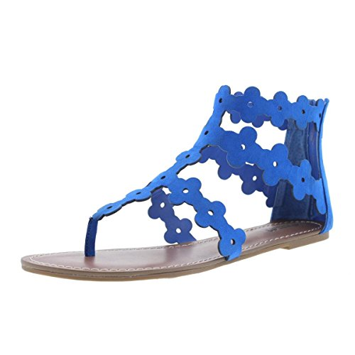 Carlos by Carlos Santana Finesse Women US 7 Blue Gladiator Sandal ()