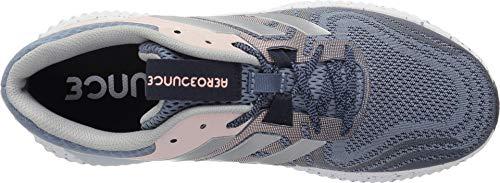 Picture of adidas Women's Aerobounce ST 2 Running Shoe, raw Grey/Silver Metallic/Clear Orange, 6 M US
