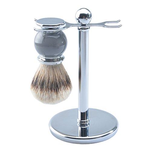 CSB Men's Shaving Set, Silvertip Badger Hair Shaving Brush, Chrome Shaving (Silvertip Badger Shaving Set)