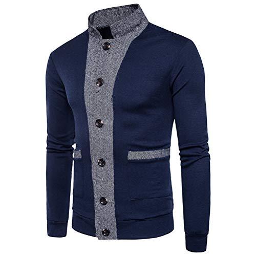 Bottone Cappotti Con Xs Manica Da Blu Giacca Robo Lunga Tendenza Capispalla Uomo Sottile xl A TqgPgB7EW