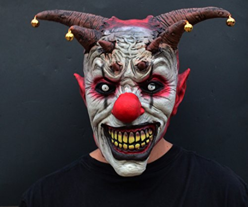 Scariest Masks (Acid Tactical Scary Creepy Halloween Clown Evil Latex Mask - Evil Jester Clown)