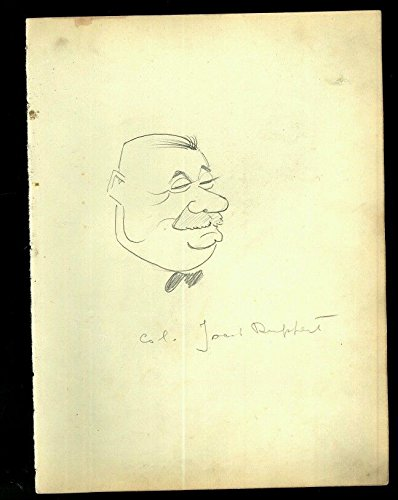 Vintage 1930's Era Vincent Zito Caricature of Jacob Ruppert Baseball HOF