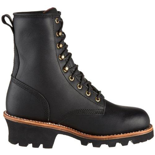 Chippewa Mens 73015 8 Logger Boot Svart Oljad