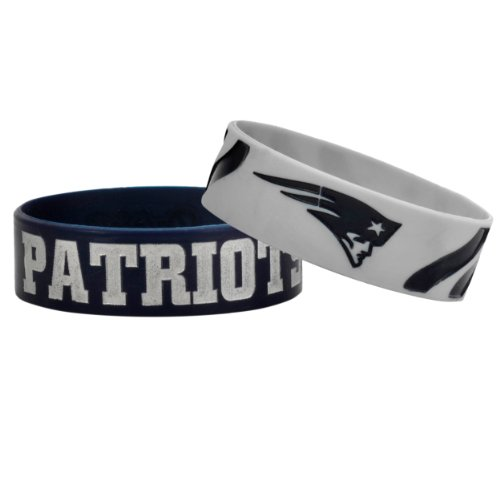 NFL New England Patriots Bulky Bandz Bracelet 2-Pack