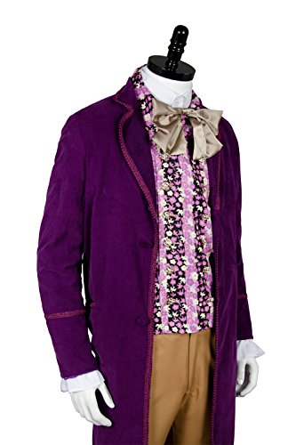 NoveltyBoy Willy Wonka Charlie and the Chocolate Factory Red Johnny Depp Purple Coat Vest Tie Set Costume by NoveltyBoy (Image #1)