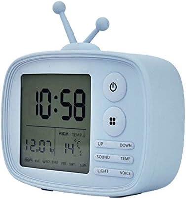 CAODANDE Reloj De Alarma De Diseño De TV LED Digital USB con ...