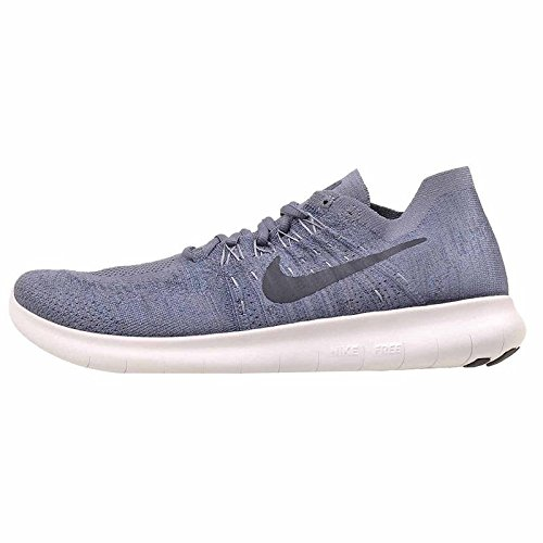 Nike Free Rn Flyknit 2017 Sz 11 Mens Running Light Carbon/Obsidian-Ocean Fog Shoes