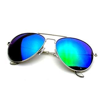Emblem Eyewear - Premium Classique Cadre Métallique Miroir Réfléchissant De Miroir Lentille Lunettes De Soleil Aviateur (Or Rouge Feu) H7LcZpqm