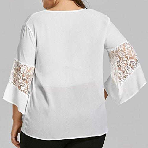 01e6ced66be3 durable modeling OVERMAL T Shirt Chiffon Damen Bluse Damen Große ...