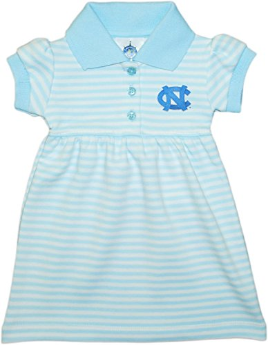 University of North Carolina Tar Heels Striped Game Day Dress with Bloomer