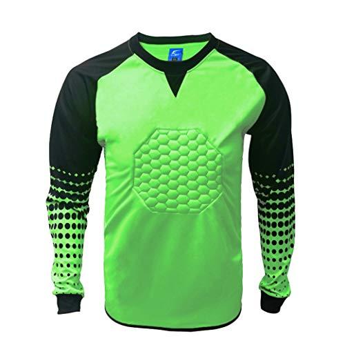 1 Stop Soccer Soccer Goalkeeper Goalie Shirt Youth (Medium, Green) ()