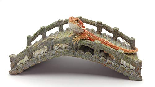 Carolina Custom Cages Reptile Bridge, Driftwood Gray, Reptile Habitat Accessory