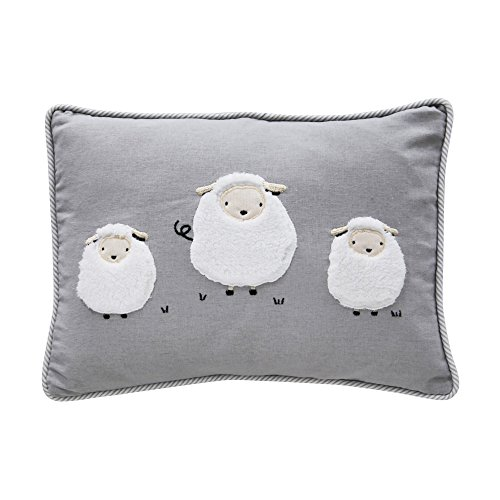Lambs Sheep Lamb - Lambs & Ivy Signature Goodnight Sheep Decorative Pillow - Gray/White