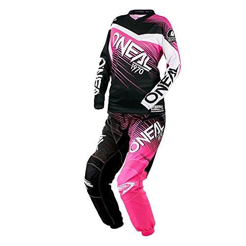 O'Neal - (Youth) Element Racewear Pink & Black Jersey/Pant Combo - Size (Girls Motocross Pants)