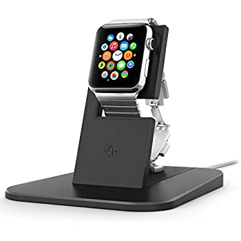 Twelve South HiRise stand for Apple Watch, black | Metal charging dock for Apple Watch