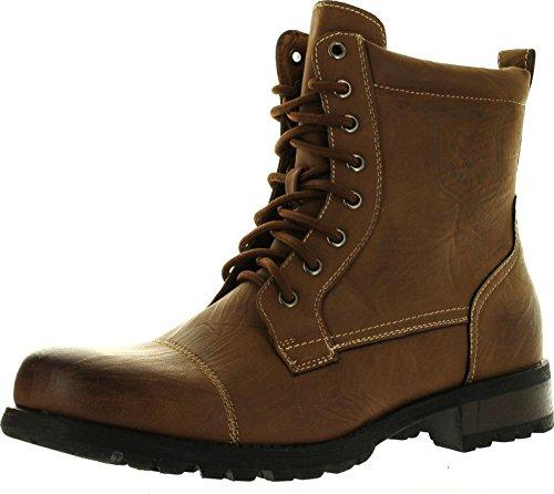 Polar Fox Men's 550 by Delli Aldo Military Combat Style Lace Up Calf High Boots