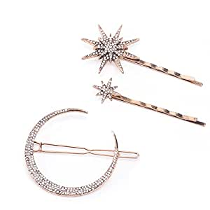 Sparkling Star Star Hair Star Jewelry Star Hair Comb Silver Metal Hair Pin Night Sky Silver hair comb Jeweled Star Moon And Stars