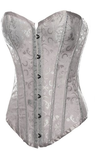 Alivila.Y Fashion Corset Women's Flower Tapestry Overbust Corset Bustier