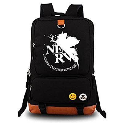 db54f44b9d outlet Gumstyle Anime EVA Neon Genesis Evangelion Luminous Large Capacity  School Bag Cosplay Backpack Black