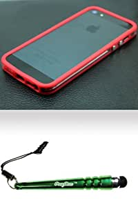 FoxyCase(TM) FREE stylus AND iPhone 5 (AT&T Sprint Verizon Cricket) Bumper Style 1 Case Cover Protector - Red Desire Safe Phone cas couverture