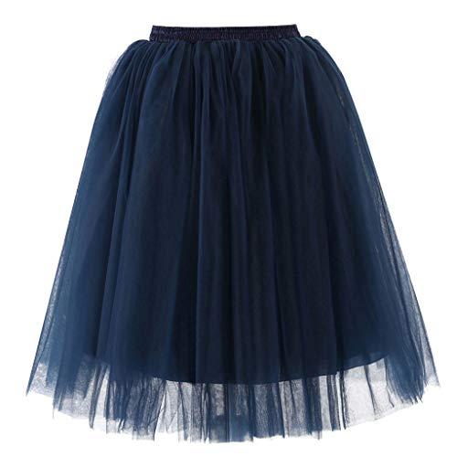 Del Longitud Mujer Danza Malla Para Bola Traje Tutú Tul Oscuro La De Media Falda Azul Ballet Gillberry AvxU0A
