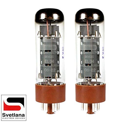 - Svetlana EL34, Matched Pair (2 Tubes)