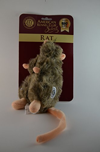 American Kennel Club Select AKC Plush Stuffed Rat with Squeaker Dog Toy