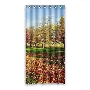 Custom Autumn Shower Curtain Polyester 90cm x 183cm