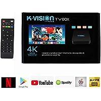 K-VISION TV Box Android 7 Dispositivo de Streaming 4K con Control Remoto KV-5819
