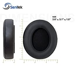 Studio 2 Memory Foam Ear Pads - Protein Leather Replacement Parts Ear Cushion Cover Earpads Ear Cups for Beats Studio 2.0 Wired / Studio 2.0 Wireless B0500 / B0501 Headphone - Black