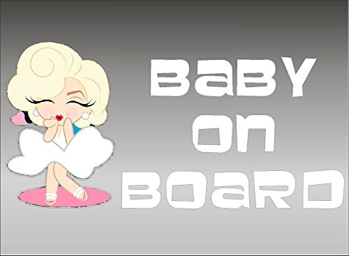 Marilyn Monroe Baby on Board / Vehicle Decal / Iconic Marilyn / Norma Jean / Window Sticker / Vinyl Graphics