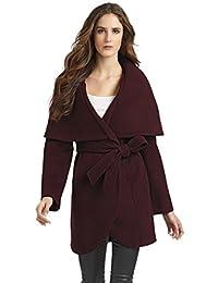T Tahari Womens Marla Wool Shawl Collar Coat